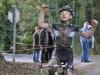 Arrivée de maxence VILLAIN 1er au cyclo cross de la Garnache
