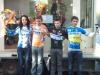 Podium du Cyclo cross de la Garnache 1er  Maxence VILLAIN