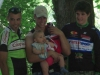 Podium de la finale du Championnat de Vendée VTT de St Maixent, 1er Guillaume GAUDIN
