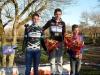 Podium du Cyclo cross cadets de Ste Gemmmes, 1er Quentin AUDOUX