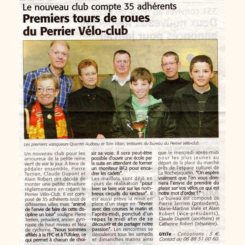 Le Courrier Vendéen du 08 décembre 2011