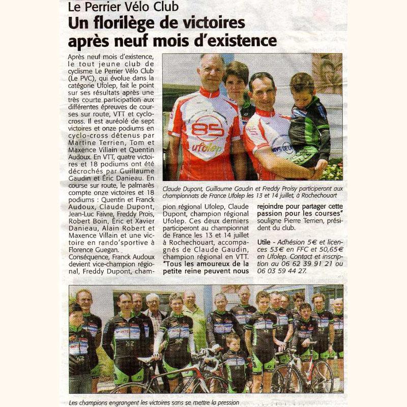 Le Courrier Vendéen du 21 juin 2012