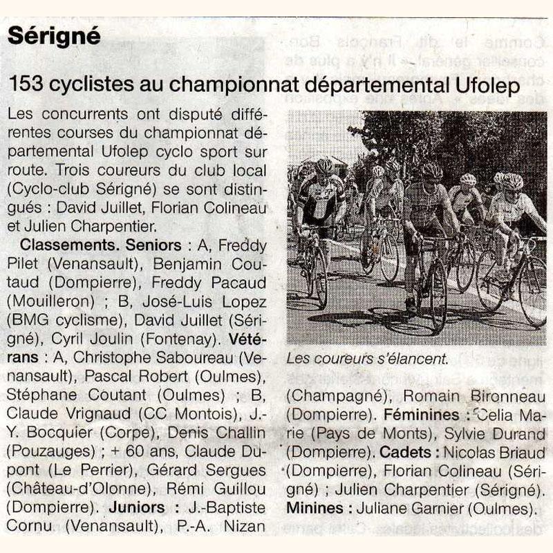 Ouest France du 16 mai 2012