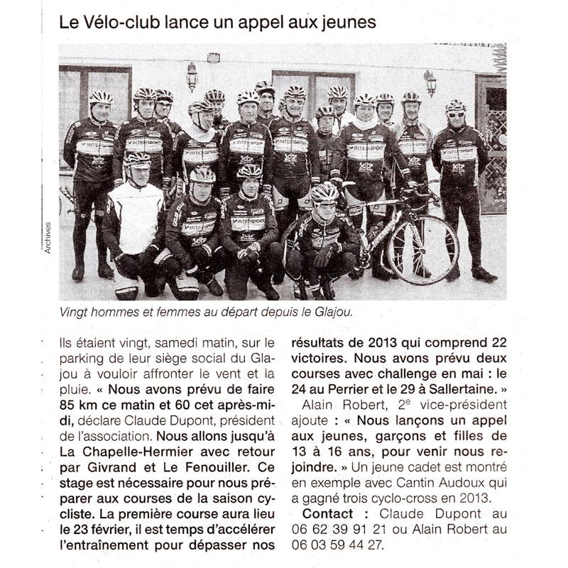 Ouest France du 12 février 2014