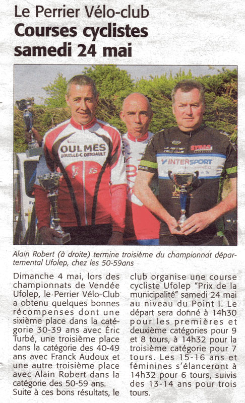 Le courrier Vendéen du 24 mai 2014