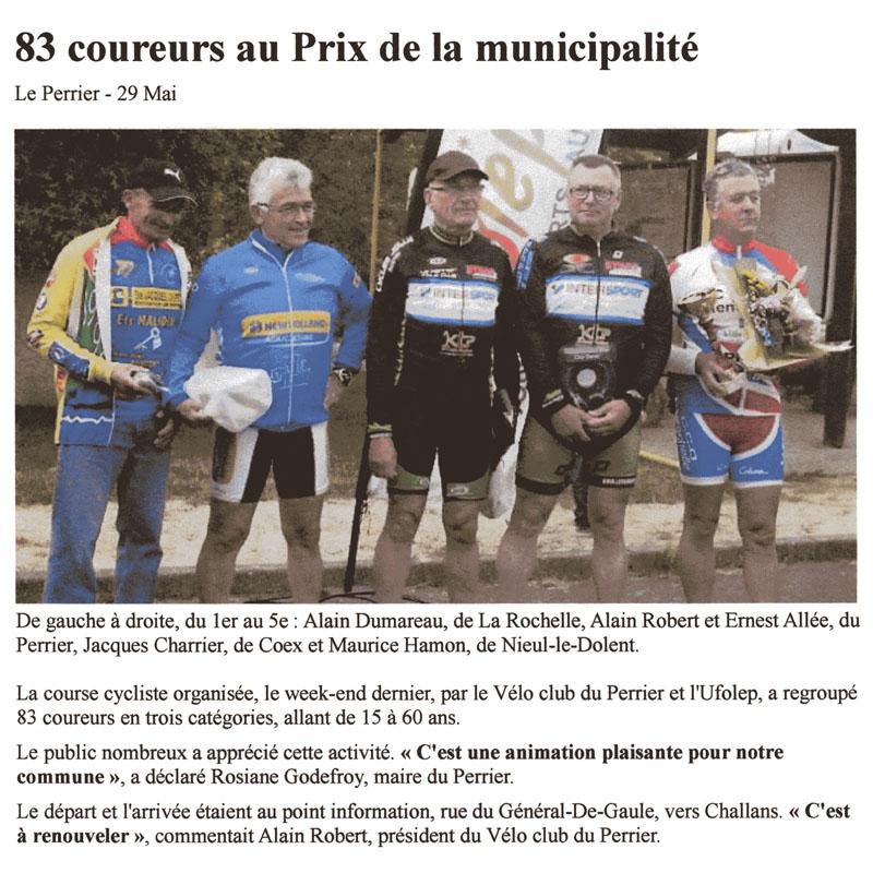 Ouest France du 29 mai 2014
