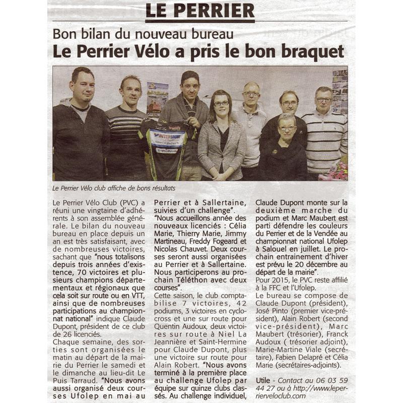 Le Courrier Vendéen du 20 novembre 2014