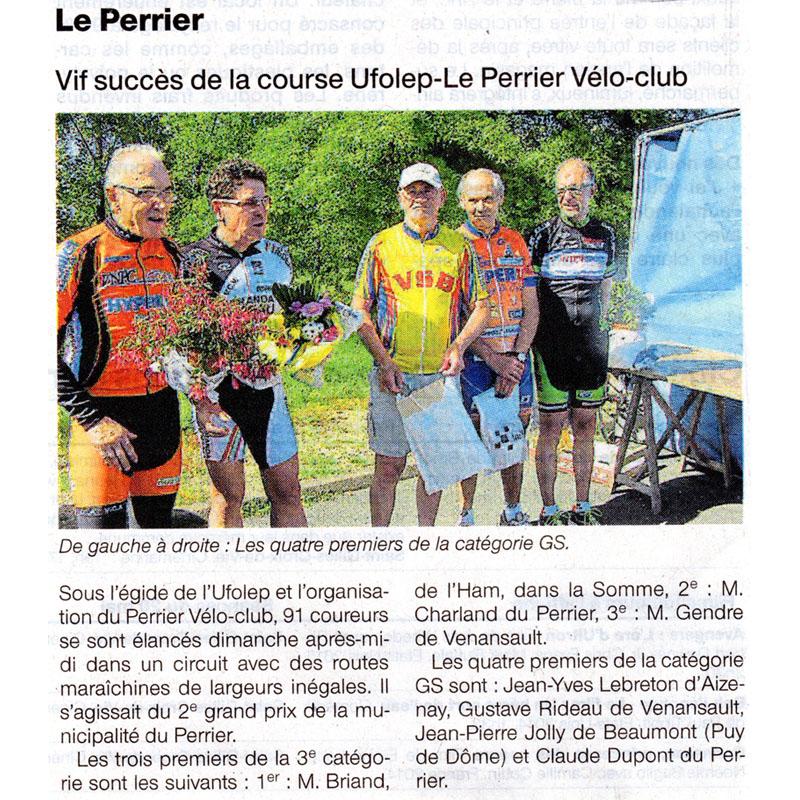 Ouest France du 20 mai 2015