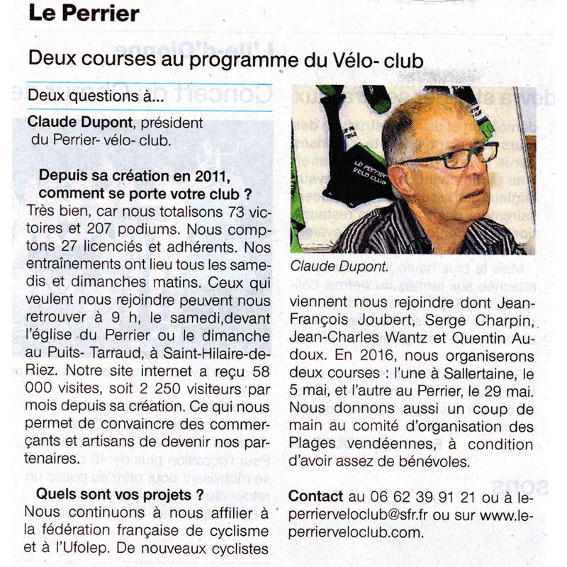Ouest France du 26 octobre 2015