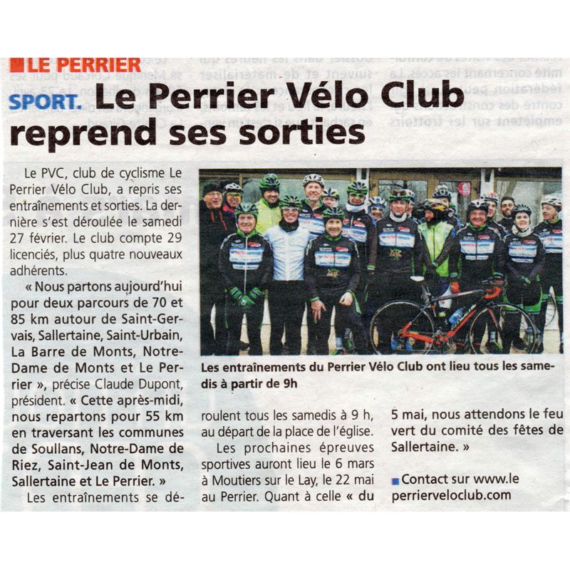 Le Courrier Vendéen du 3 mars 2016