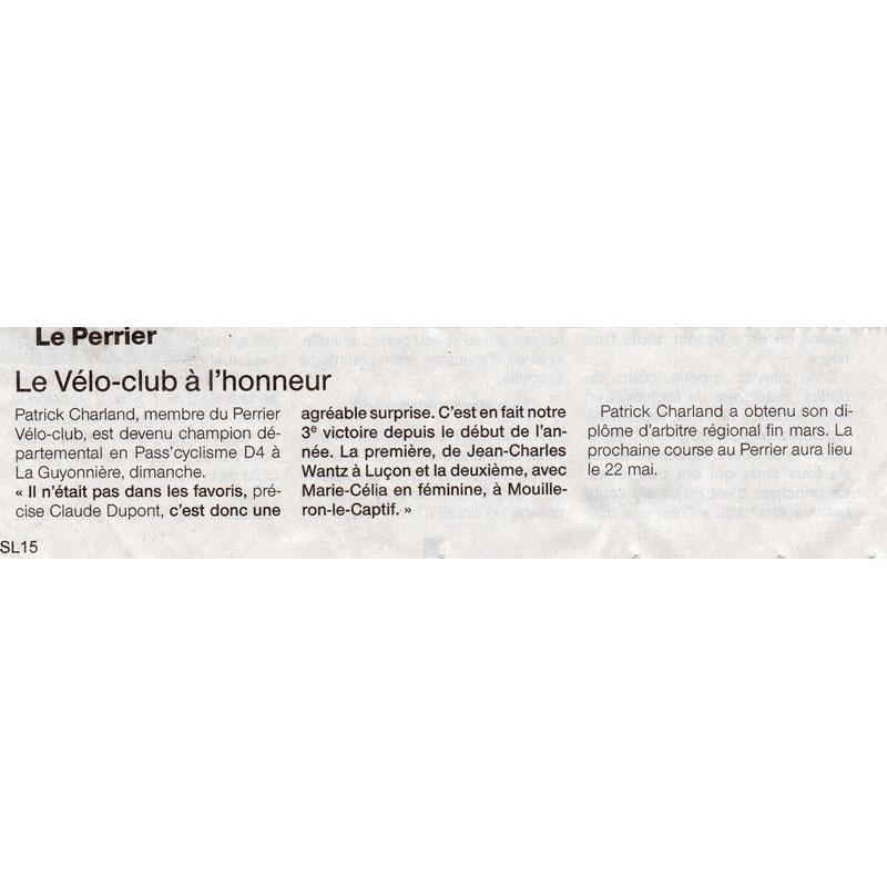 Ouest France du 22 avril 2016