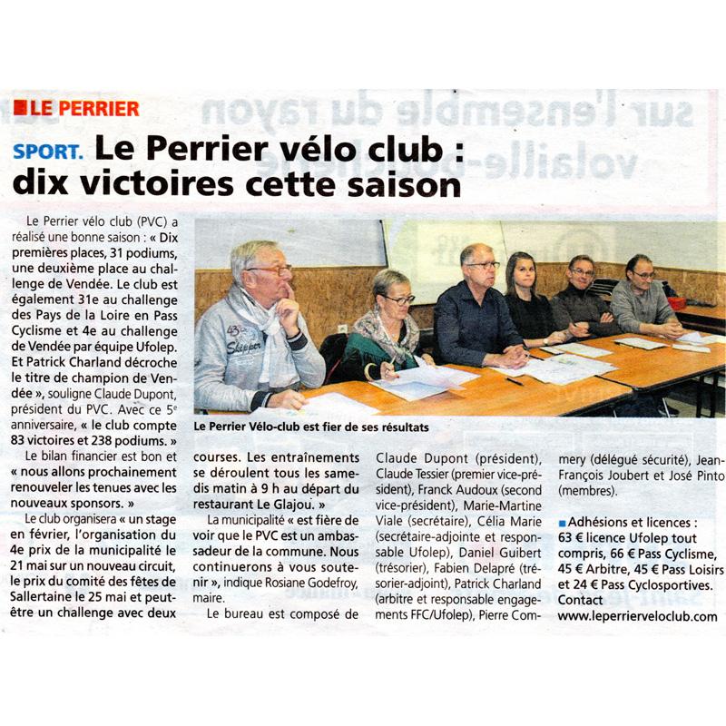 Le Courrier Vendéen du 12 décembre 2016